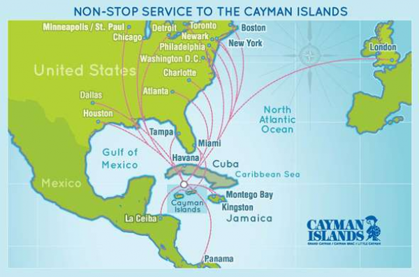 Direct Flights to Cayman Islands